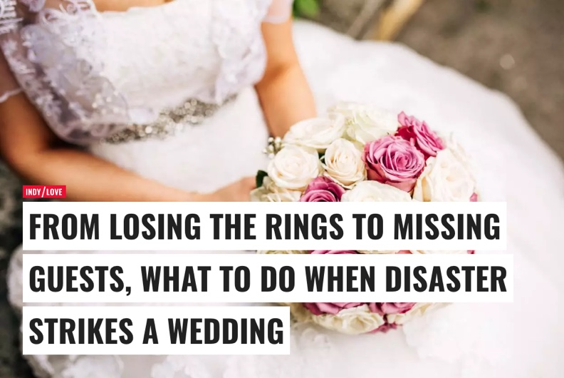 What to do when disaster strikes a wedding