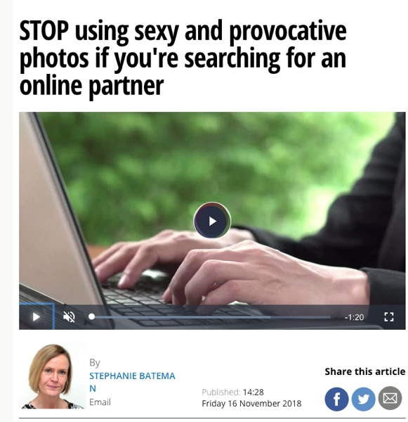 STOP using sexy and provocative photos if you're searching for an online partner