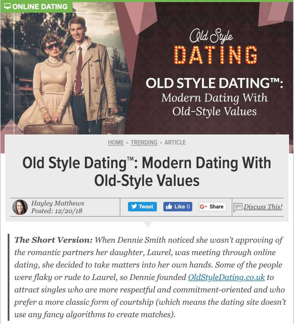 As Featured in DatingAdvice.com