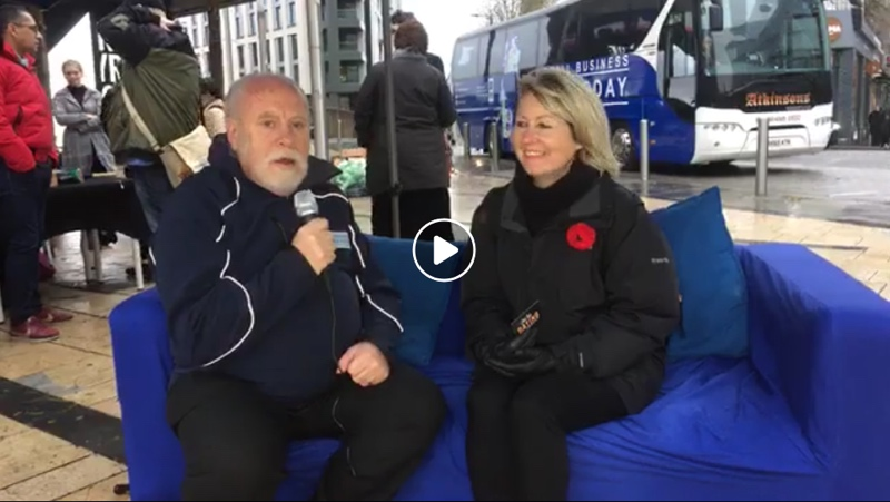 Dennie live on Small Business Saturday UK with Pete