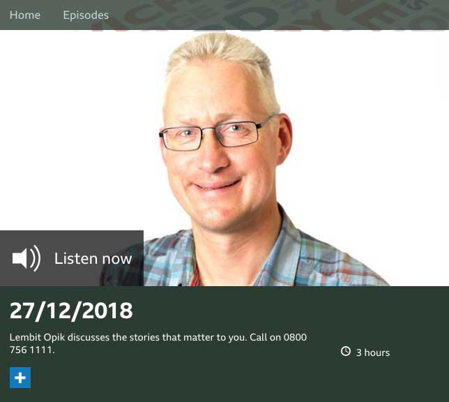 BBC Radio Kent with Lembit Opik