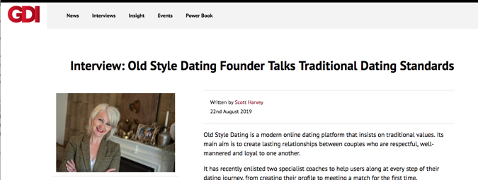 GDI – Old Style Dating Founder Talks Traditional Dating Standards
