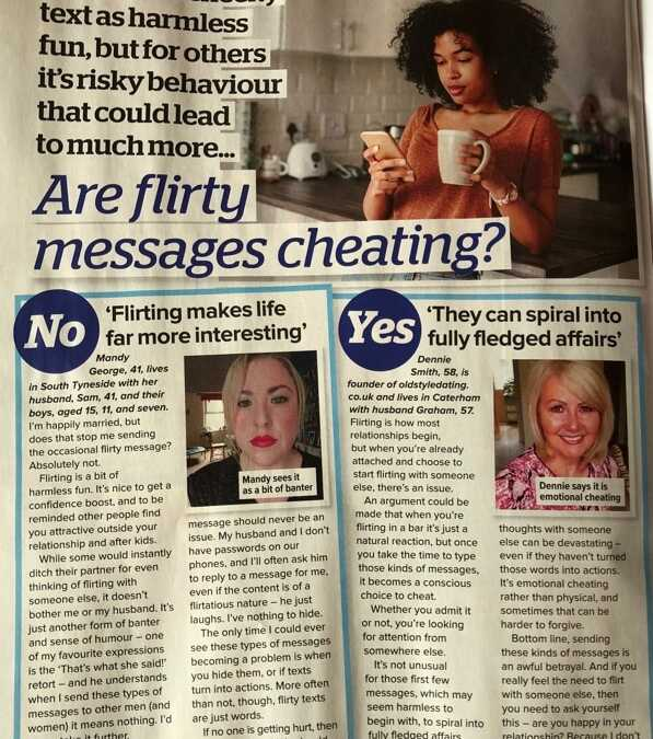 Are flirty messages cheating? Dennie from OSD says yes!